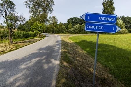 Rural road in czech countryside. Reklamní fotografie