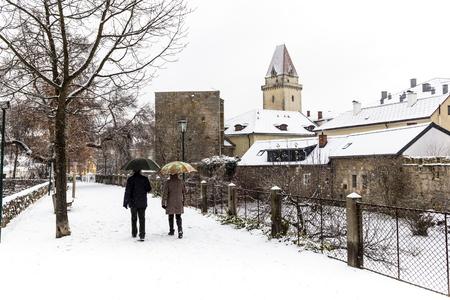 Winter in Freistadt - Upper Austria 版權商用圖片