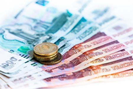 Russian money and coins Фото со стока