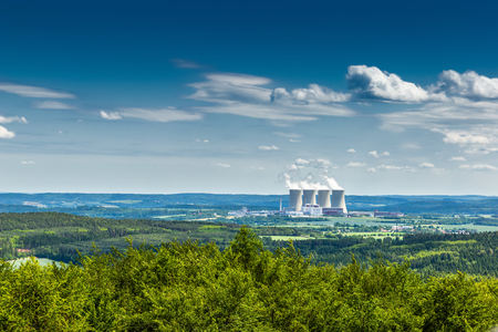 Nuclear power plant Temelin in Czech Republic. Europe.