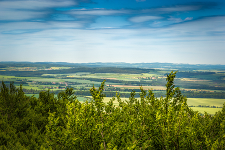 Panoramatic view of the South Bohemia and surrounding landscape, Czech Republic.
