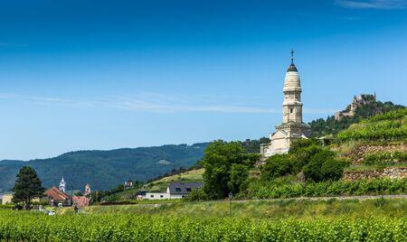 Battle of Durnstein Monument. Wachau valley. Austria.