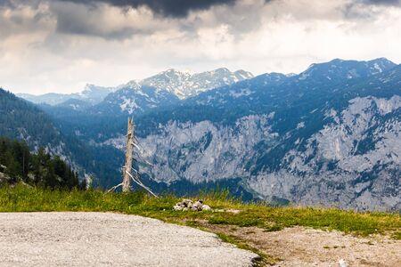 Mountain landscape in Austria. Summer day.