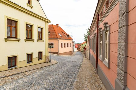 Street in Znojmo - Czech Republic. Historical center. Downtown. 版權商用圖片