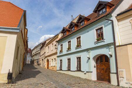 Street in Znojmo - Czech Republic. Historical center. Downtown. Stock Photo