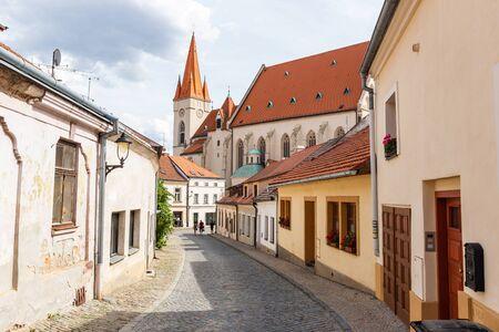 Street in Znojmo - Czech Republic. Historical center. Downtown. 版權商用圖片