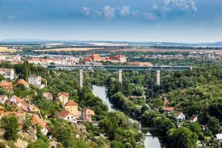 Iron bridge over Dyje river in Znojmo - Czech Republic.