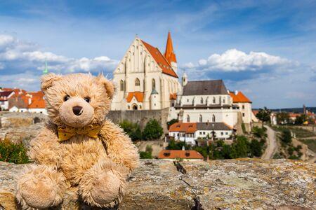 Teddy bear in Znojmo, Czech Republic.