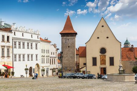 Masaryk's square in Znojmo - Czech Republic. Historical center. Downtown. 版權商用圖片 - 127535898