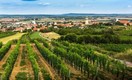 Small town Retz in the region Weinviertel, Austria. 版權商用圖片 - 127655400