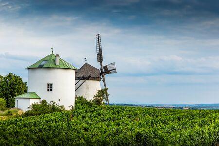 Old windmill near Retz village in Austria.