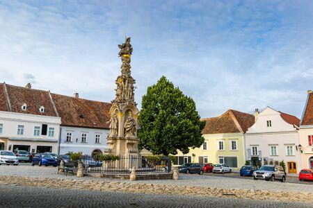 Main square in town Retz in the region Weinviertel, Austria. 版權商用圖片