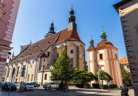 Church of St. Nikolaus in Ceske Budejovice. Czech Republic.