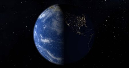 Planet earth from the space at night 版權商用圖片 - 138801430