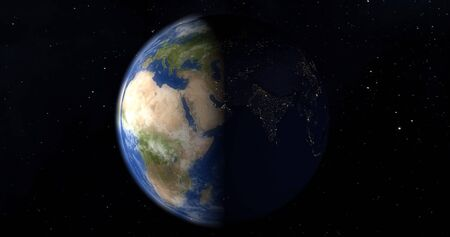 Planet earth from the space at night 版權商用圖片