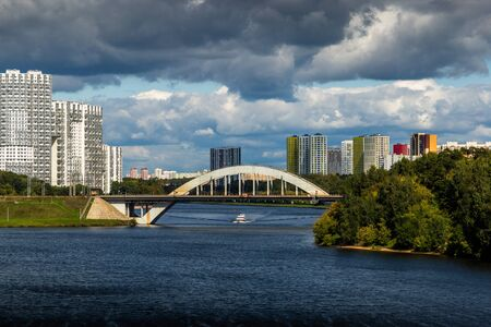 Moscow Canal river in summer day.