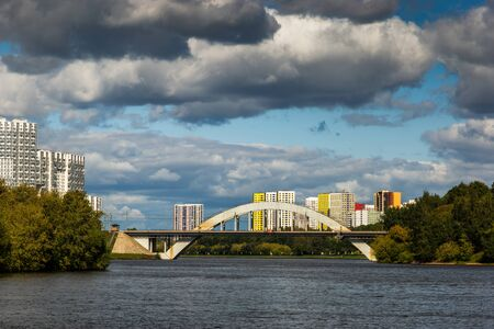 Moscow Canal river in summer day. 版權商用圖片 - 138801434