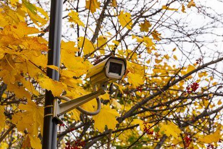 Security camera in a street.