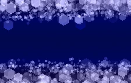 Abstract hexagonal pattern on the dark background.