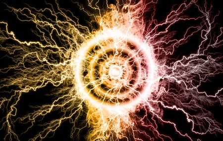 Electric lighting effect, abstract techno backgrounds.