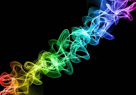 Abstract image of a magical power of smoke as a background and a beautiful design.