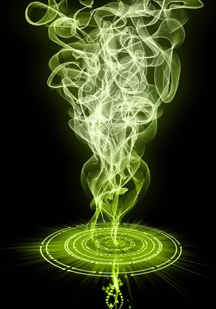 Abstract image of a magical power of fire and smoke as a background and a beautiful design. 版權商用圖片