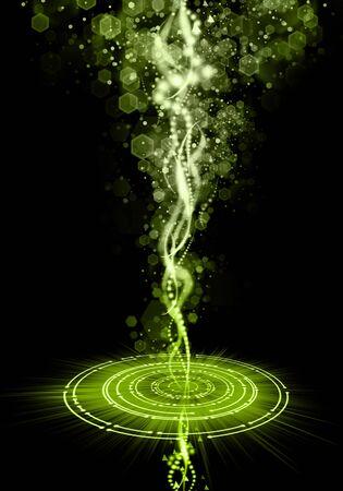 Glowing plasma flame and smoke.  Abstract image of a magical power. 版權商用圖片