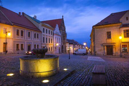 Night street in Kutna Hora (Kuttenberg), Czech republic.