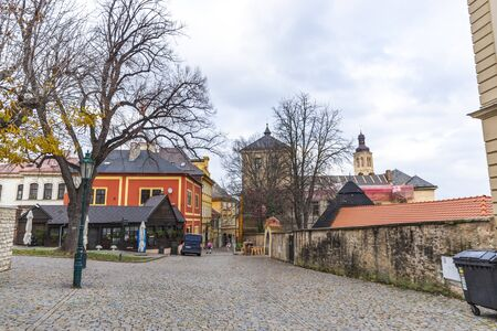 Street in Kutna Hora (Kuttenberg), Czech republic.