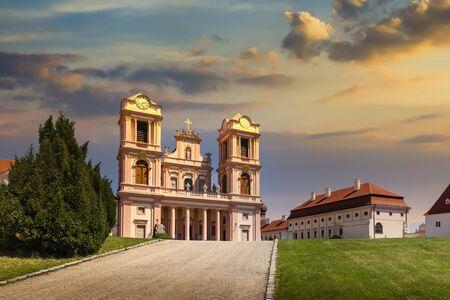 Abbey Goettweig in lower austria on a sunset, Austria.