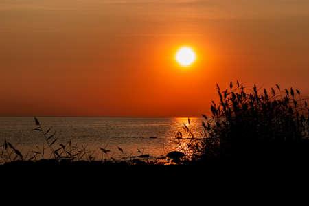 Sunset over Gulf of Finland.