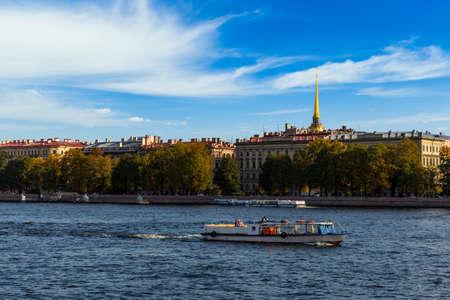 Turist ship on the Gulf of Finland. Russia.