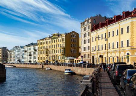 Embankment of the Moyka river in Saint-Petersburg.
