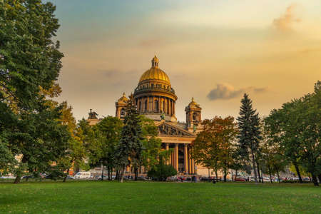 St. Isaac Cathedral in Saint-Petersburg, Russia. Sityscape