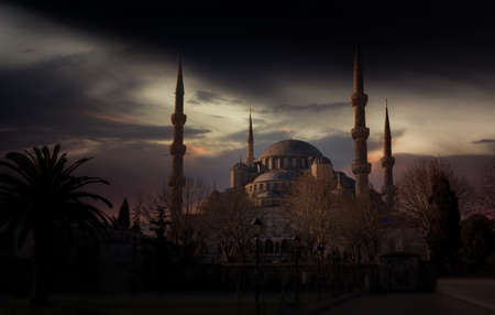 Sultan Ahmed Mosque (Blue mosque). Istanbul, Turkey.