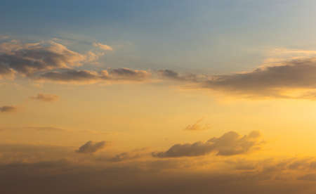 Heavenly abstract background. Picturesque bright, dramatic evening sky.