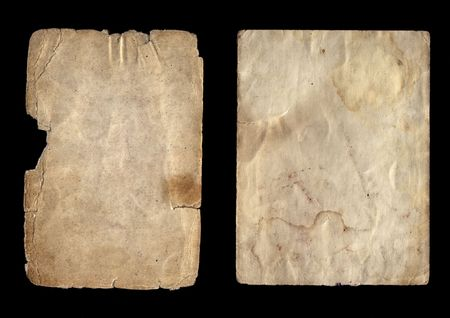 Two kinds of an old paper for a photo photo