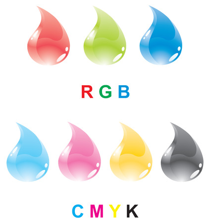 color printer: Colour drops of a paint of various colour systems