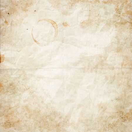 cur: The old shabby paper with dirty stains