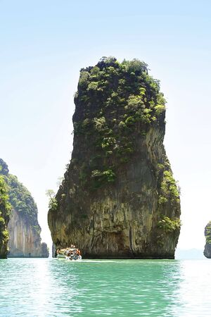 james bond's island: Part of James Bonds Island in Thailand