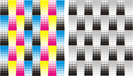 four color printing: abstract background of a set of colored points
