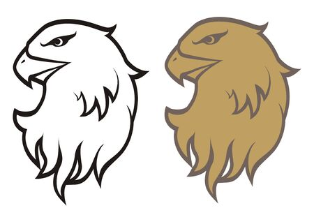 Picture of an eagle in a tattoo Vector
