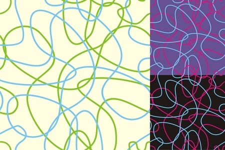 isolines: Abstract background consists of colored chaotic lines Illustration