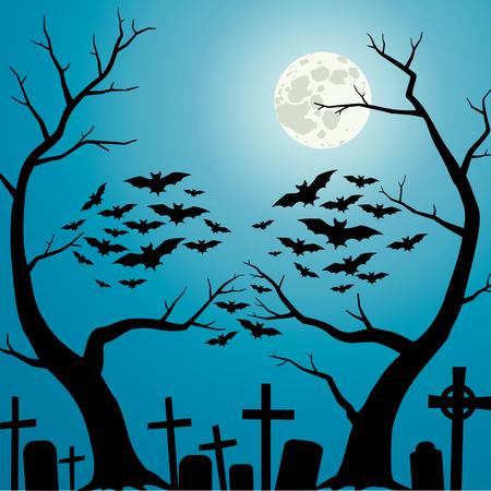 Una persona che è formata dai rami degli alberi e pipistrelli
