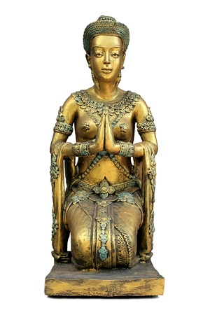 Buddhist statue of a girl on a white background Stock Photo - 8296469