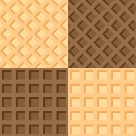 waffles: Ilustraci�n vectorial de cuatro de obleas de fondo transparente