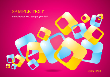 abstract background of glossy colored squares Stock Vector - 8793419