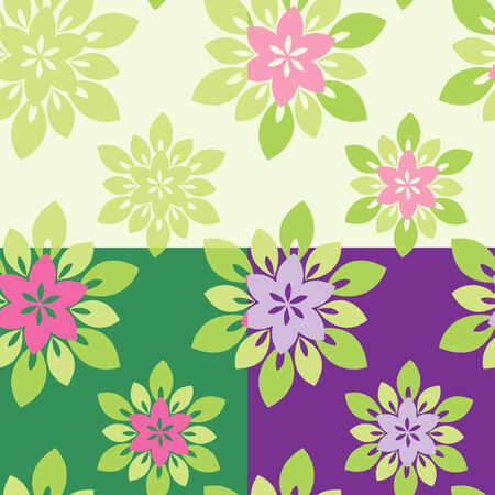 Set of four floral ornaments Stock Vector - 8793412