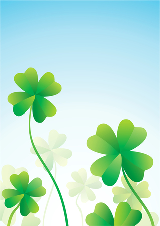 Clover with four leaves on a summer day Stock Vector - 8905450