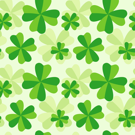 The pattern of four leaf green clover Vector